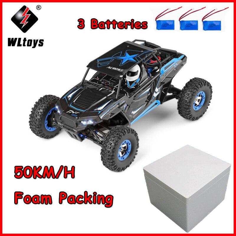 WLtoys Super Puissance RC Voiture 12428-B 1:12 2.4G 4WD 50 KM/H électrique télécommande Escalade Hors route Véhicule Haute vitesse voiture radiocommandée pour enfant