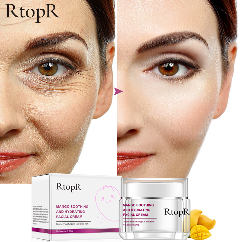 RtopR Face Cream Anti-Wrinkle Anti Aging Whitening Mango Moisturizing Liquid Tights Nourishing Shrink Pores Hyaluronic Acid