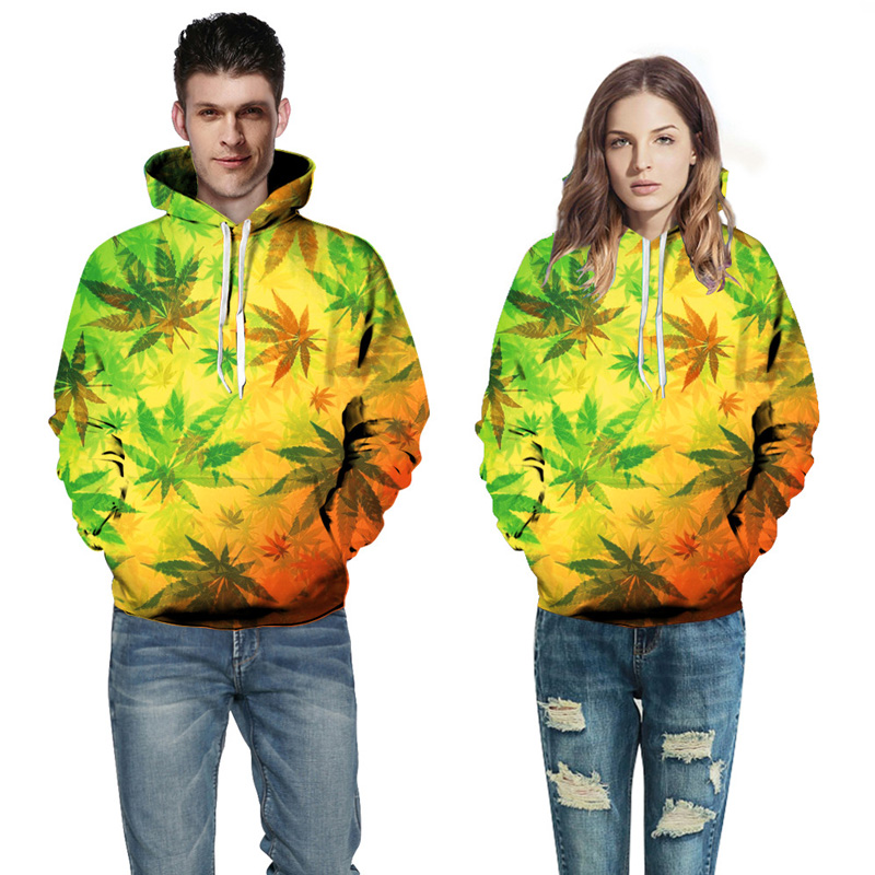 Autumn Maple Leaves Print 3D Men Women Hoodies Couple Hooded Sweatshirts Tracksuits Fashion Hoody Tops Jacket homme Harajuku in Hoodies amp Sweatshirts from Men 39 s Clothing