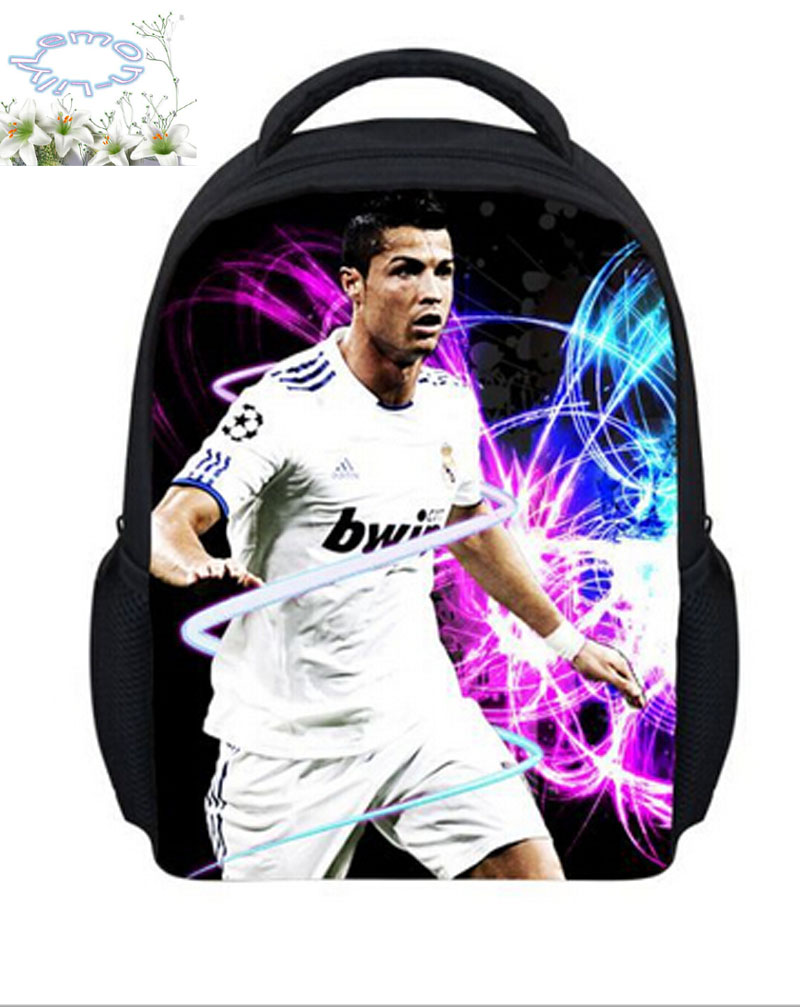 New Arrives Football Stars Printed Backpack Mochila Masculina Children Schoolbag Boys Mochila Escolar Kids Free Shipping B033
