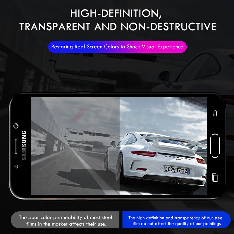 Image 4 - 3Pcs HD Tempered Glass For Samsung Galaxy A3 A5 A7 J3 J5 J7 2017 Full Screen Protector for Samsung A5 A3 A7 2018 9H Glass Film-in Phone Screen Protectors from Cellphones & Telecommunications