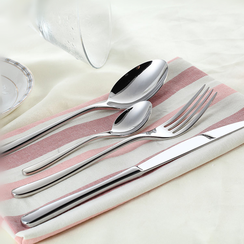 24Pcs/set Dinnerware Set Stainless Steel Silverware Tableware Luxury Cutlery Set Flatware Knife Fork Spoon Dishwasher Safe 6