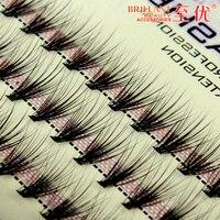 20pcs Knot Individual Black Mink Fake Lash False Eyelashes Natural Long Eyelashes Extension Tool Eye Lashes