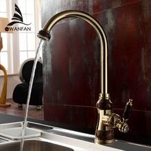 Freies Verschiffen Messing mit Marmor küchenarmatur/Einhand Goldüberzug Spülbecken Wasserhähne Mischer Spüle Wasserhahn U-01