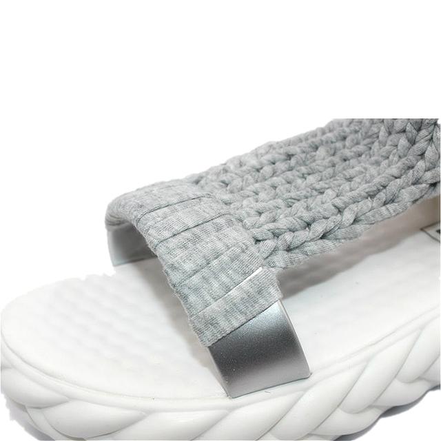 shoes Women Sandals 2017 Summer shoes Sandals on the platform flip flops gladiator Bottom Women Shoes footwear heeled 688W