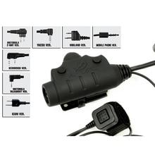 Тактический U94 PTT новая версия гарнитура кабель для наушников и PTT для MIDLAND Mo to rola Kenwood ICOM