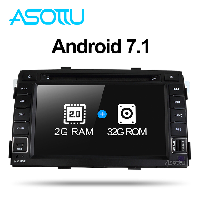 2G + 32G Android 7,1 quad core para kia Sorento 2009, 2010, 2011, 2012 reproductor de dvd del coche gps reproductor de vídeo de radio para coche
