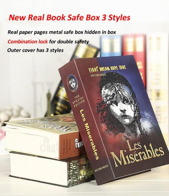 .La Mini Safe หนังสือกล่องเงินซ่อน Secret Security Safe Lock เงินสดเงินเก็บเครื่องประดับอัญมณี key Locker เด็กของขวัญ