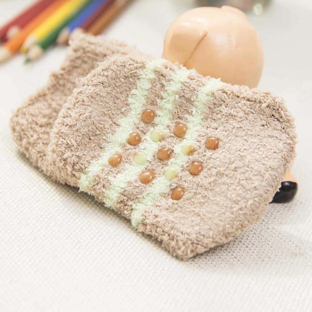 Детские зимние носки нескользящие пушистые теплые носки для сна с рисунком теплые носки для малышей Рождественский подарок