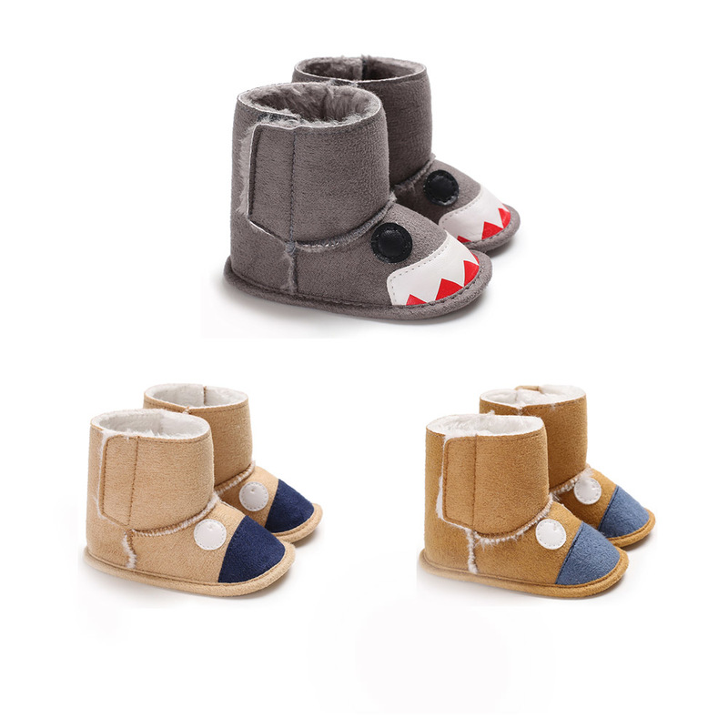 Fist Step Cartoon Cute Monster Baby Winter Shoes Boots Cute Bear First Walkers Knitted Keep Warm Booties Infant Toddler Boots