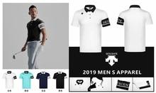 лучшая цена QMen Sportswear Short sleeve DESCENTE Golf T-shirt 4colors Golf clothes S-XXL in choice Leisure Golf shirt Free shipping