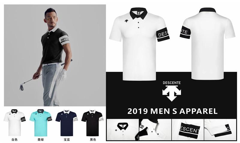 QMen Sportswear manches courtes DESCENTE Golf T-shirt 4 couleurs Golf vêtements S-XXL au choix loisirs Golf chemise livraison gratuite