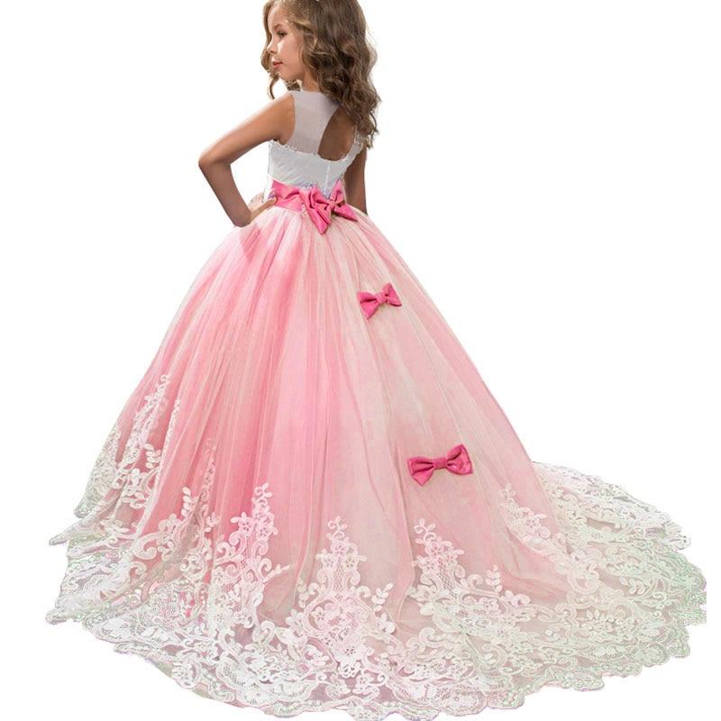 2019 High quality   flower     girl     dress   baby evening wedding birthday   girls     dress   first communion princess costume ladies   dress