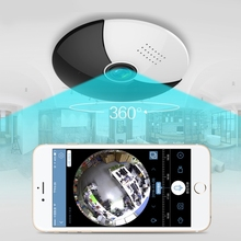 Fisheye Vr 360 Degree Panoramic Camera Hd 960P Wireless Wifi Ip Camera Home Security Surveillance System Camera(Eu Plug) fredi 360 degree panoramic ip camera 960p hd 1 3mp security wifi camera infrared night vision wireless camera support 128g card