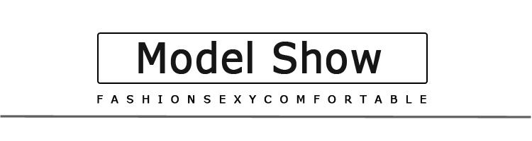 model show文字