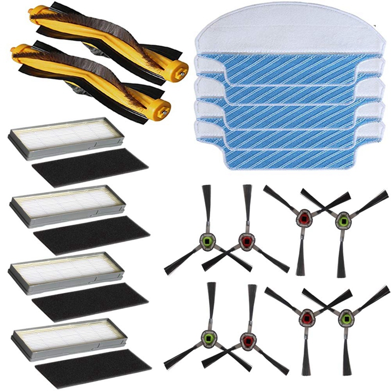 Replacement Ecovacs Accessories Main Brush/Side Bursh/Filters/Mop Clothes For Ecovacs <font><b>Deebot</b></font> <font><b>M80</b></font> <font><b>M80</b></font> <font><b>Pro</b></font> M81 M81 <font><b>Pro</b></font> <font><b>Deebot</b></font> M8 image