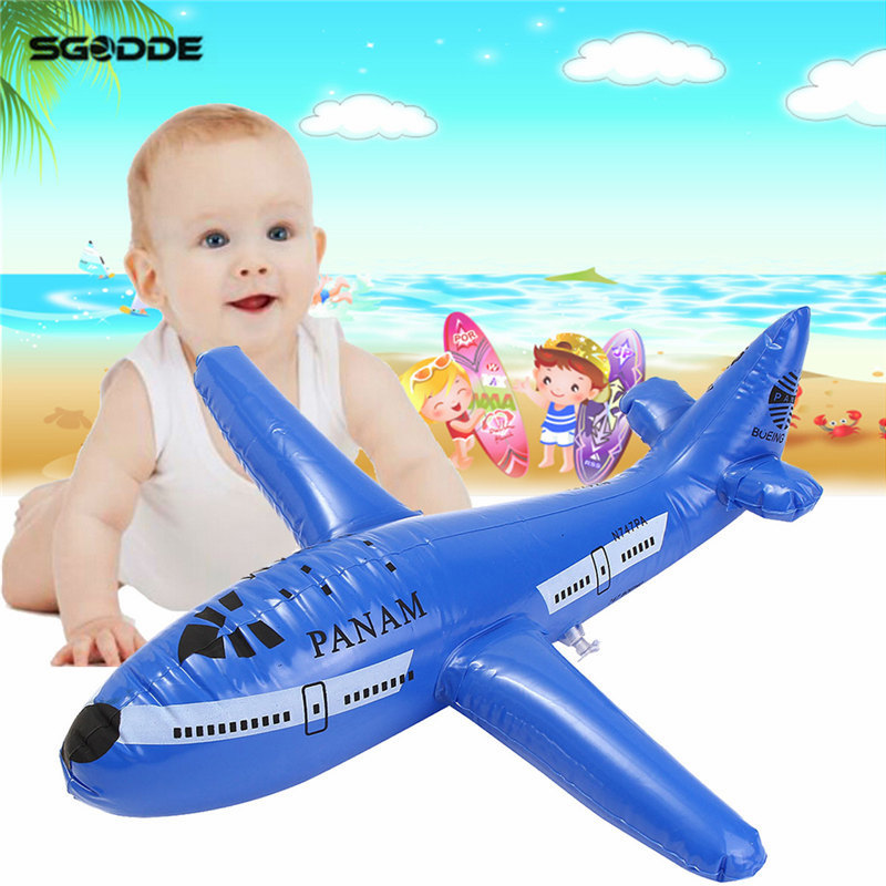 Aircraft Cartoon Plane Inflatable Airliner PVC Plastic Balloons Planes Toys Kid Party Beach Swimming Pool Kids Gift Pool Rings ...