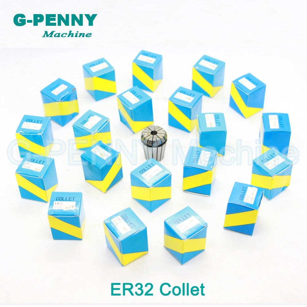 CNC Spindle motor tool holder ER32 collet chuck full set 21 pcs from 2 mm to