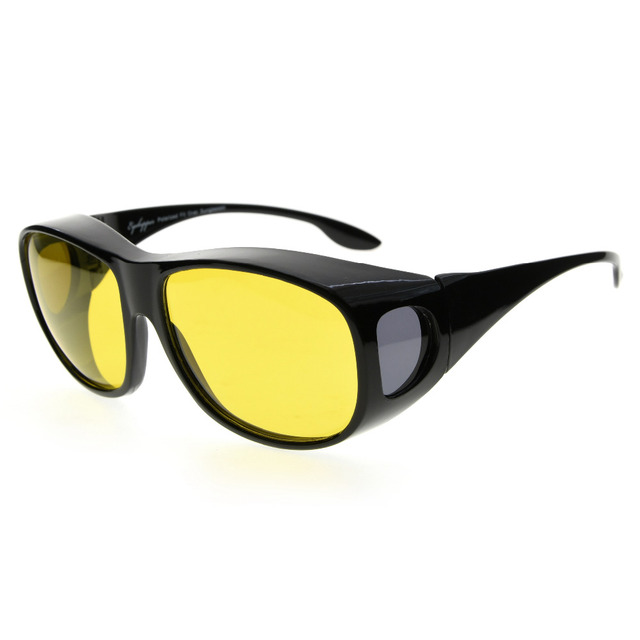 Eyekepper Halb Rand Pilot Stil polarisierten Sonnenbrillen Linse, Yellow Lens without Polarized,