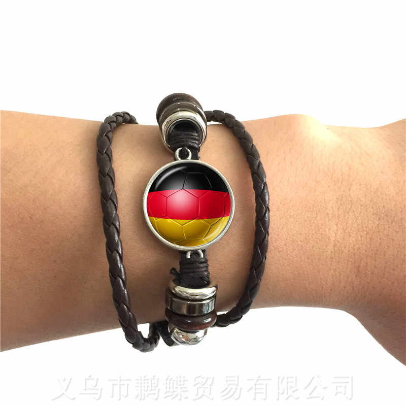 New Football Bracelet World Cups National Flag Panama,Australia,Argentina,Russia,Germany,Denmark,Poland,Soccer Souvenirs