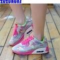 Новые Женщины Повседневная Обувь Ультра Легкие Мода Сетки Квартиры Обувь Женская Марка Воздуха Дизайнер Платформа Тренеров Повседневная Обувь Досуг 25v6