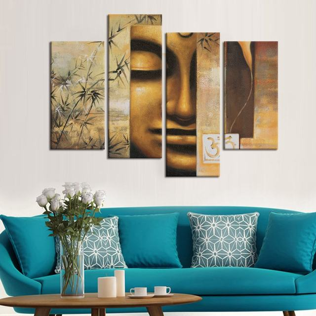 Online Shop Large Size Buddha Wall Art Decor Canvas Prints Peaceful ...
