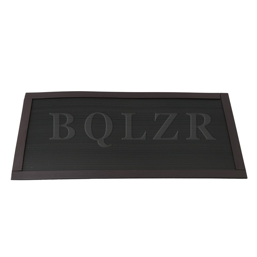 BQLZR 12x24cm Black Magnetism Filter Dust Proof Mesh For Electronic Product