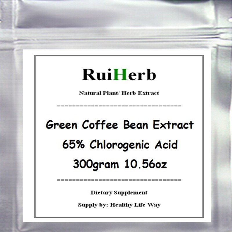 300gram Green Coffee Bean Extract 65% Chlorogenic Acid Powder For Weight Loss 10.56oz