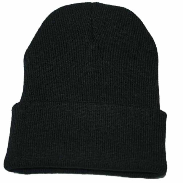 5f0ca966e US $1.12 |Unisex Slouchy Knitting Beanie Hip Hop Cap Warm Winter Ski hats &  caps men winter hats for women bonnet femme gorras para F30-in Skullies &  ...