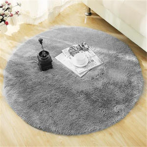 Round Rug Carpets Living-Room-Decor Modern-Mats Bedroom Faux-Fur Fluffy Shaggy-Area Long