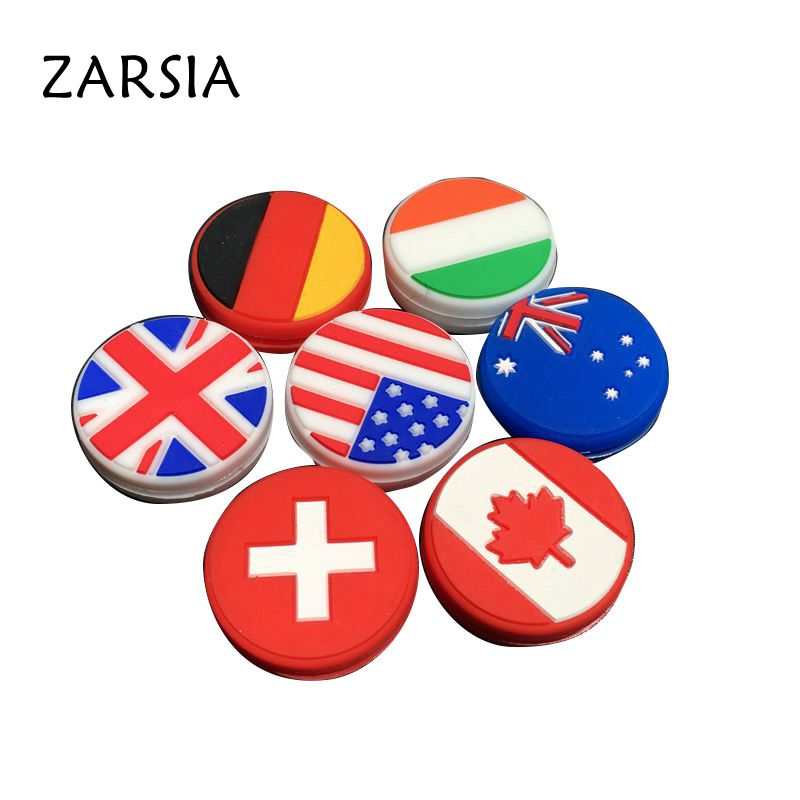 1 Pc National Flag Tennis Damper Shock Absorber To Reduce Tenis Racquet Vibration Dampeners