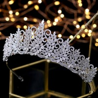Amazing Queen Tiara Vintage Headpiece Wedding Crowns Bridal Hair Jewelry Tocado Novia Wedding Hair Accessories