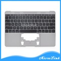 """661-02242 New for MacBook Retina 12"""" A1534 US Topcase Top Case with keyboard and Backlight 2016 Space Gary"""