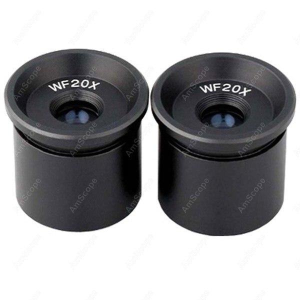 Microscope Eyepiece-AmScope Supplies Pair of WF20X Microscope Eyepieces (30.5mm)  цены