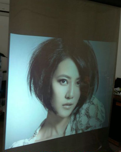 1.524m*2m Self adhesive white screen film,best resolution rear projection screen foil for window shop advertising