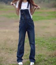 Бесплатная Доставка 2017 Новый Прибытие Мода Плюс Размер 6XL Джинсовые Комбинезоны С Нагрудниками Брюки Свободные Подтяжки Джинсы Брюки Для Женщин Комбинезон Комбинезоны