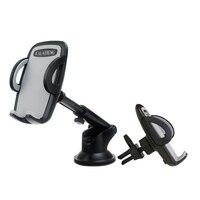 מחזיק טלפון אוניברסלי לרכב שמשה קדמית זרוע ארוכה הר סטנד 360 סיבוב Stand קלאמפ Bracket קליפ GPS מחזיק טלפון הנייד