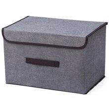 Boîte de rangement en coton Liene, 25x19x16cm, boîte de rangement domestique avec capuchon, pour vêtements chaussettes, jouets, collations, articles divers, organisateur de produits cosmétiques