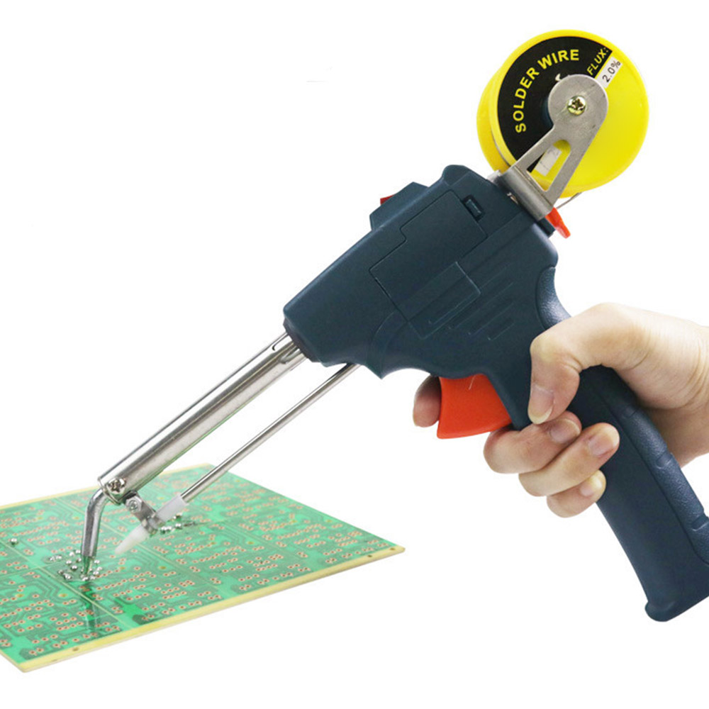 EU/US Plug 60W Auto Welding Automatic Feed Soldering Iron Electric Temperature Tool Adjustable Solder Tool Kit Fast Heating