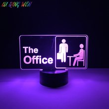Cool Kids Led Night Lamp The Office Nightlight for Childrens Bedroom Decoration Novetly Gift Dropshipping Baby Light