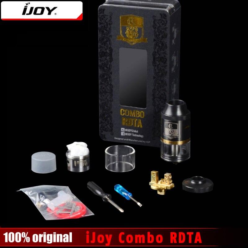 100% Originale iJoy Combo RDTA RDA & Combo RDTA 2 Vape Sub Ohm Serbatoio Atomizzatore 6.5 ml e-Succo di Capacità Con Il Lato Sistema di Riempimento