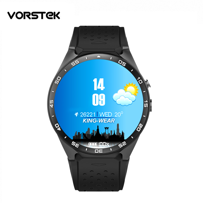 Kw88 smartwatch MTK6580 quad core font b Android b font 5 1 Smart Watch Phone 1
