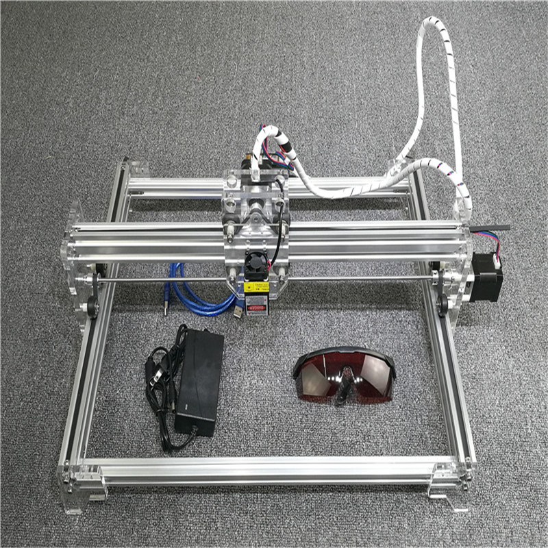 300mW Mini Laser Engraver DC12V USB CNC Router DIY Laser Engraving Cutting Machine Desktop 300*400mm with Power Supply Glasses eur free tax cnc 6040z frame of engraving and milling machine for diy cnc router