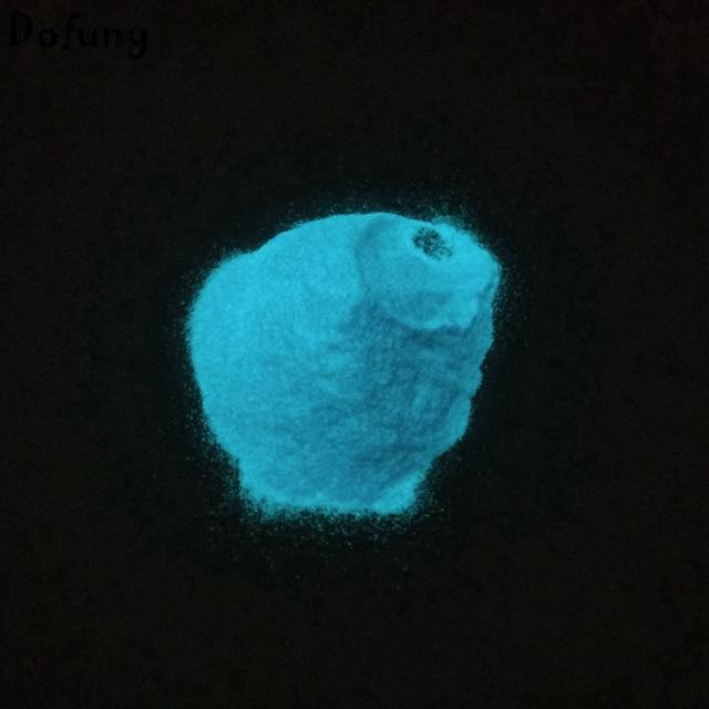 Dofuny 100g Blue Luminous Powder For Furniture Paint Nail Polish Glow Pigment Light