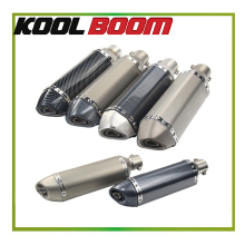 51mm 125cc 150cc 200cc 300cc motorcycle exhaust pipe carbon fiber muffler motorbike scooter akrapovic exhaust tubo escape moto