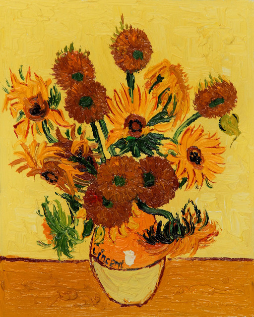 Famous Van Gogh Reproductions Vase With Fifteen Sunflowers Wall Art