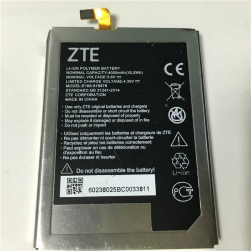 Mobile Phone Parts Track Code For Improving Blood Circulation Cellphones & Telecommunications Motivated 4000mah Battery For Zte Q519t For Zte Blade X3/blade D2/blade A452/e169-515978 515978 Mobile Phone Batteries
