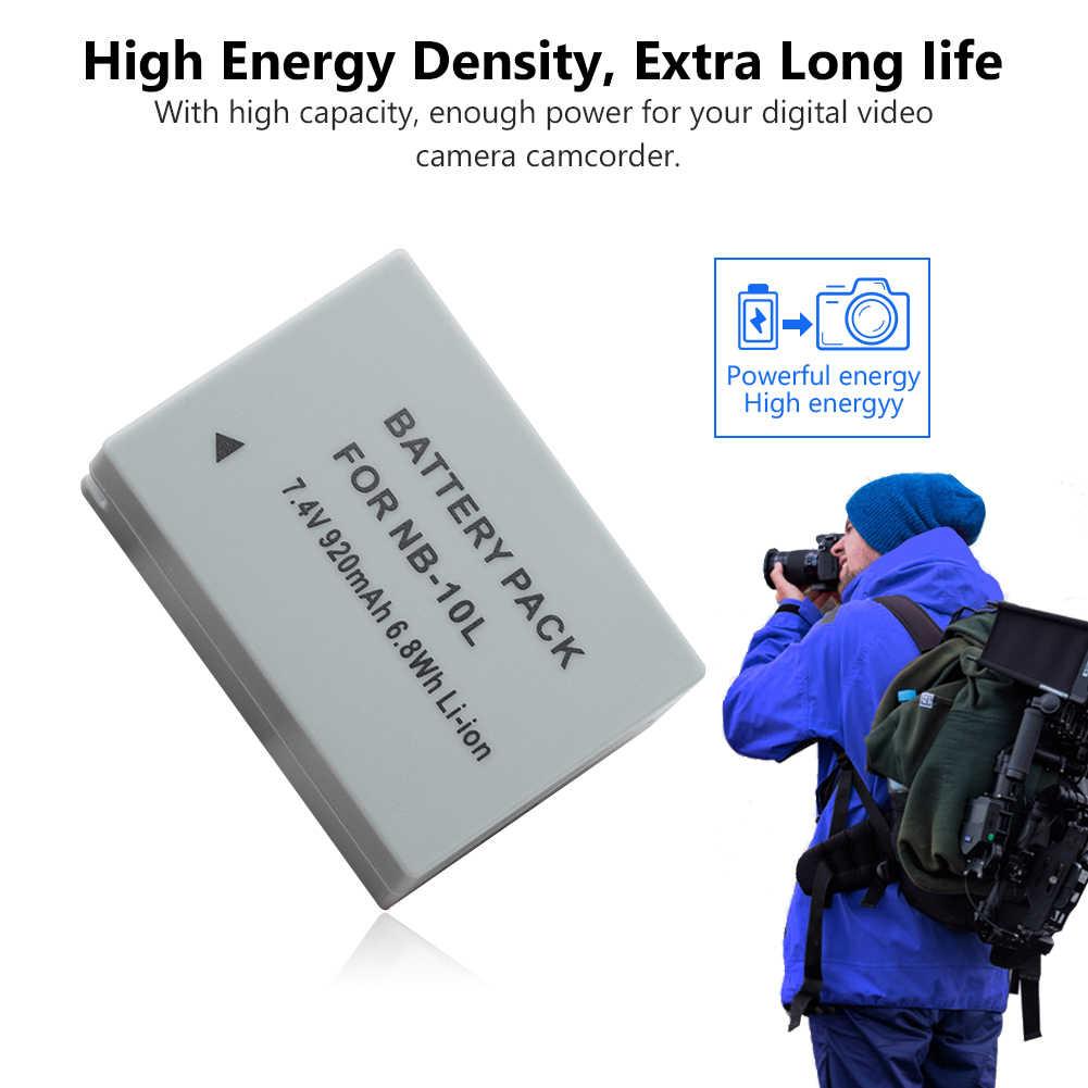 1/2 шт. NB-10L NB10L NB 10L Камера Батарея зум-объектив для Canon PowerShot G3 X/G15/G16/SX50HS/SX60 HS SX60HS 7,4 V 920 мА/ч, литий Батарея