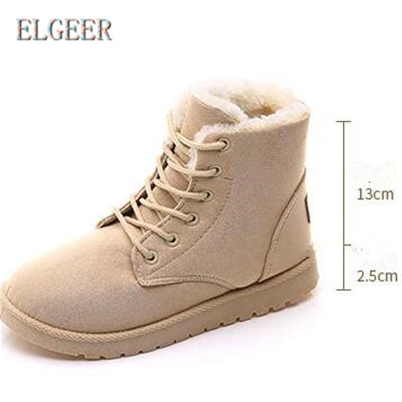 06 Zapatos Nuevo Elgeer 08 02 Las 01 De Bajas Mujeres Nieve Mujer Algodón Calientes 07 Ronda 04 03 2018 Invierno 05 Botas wXxgzH1qXf