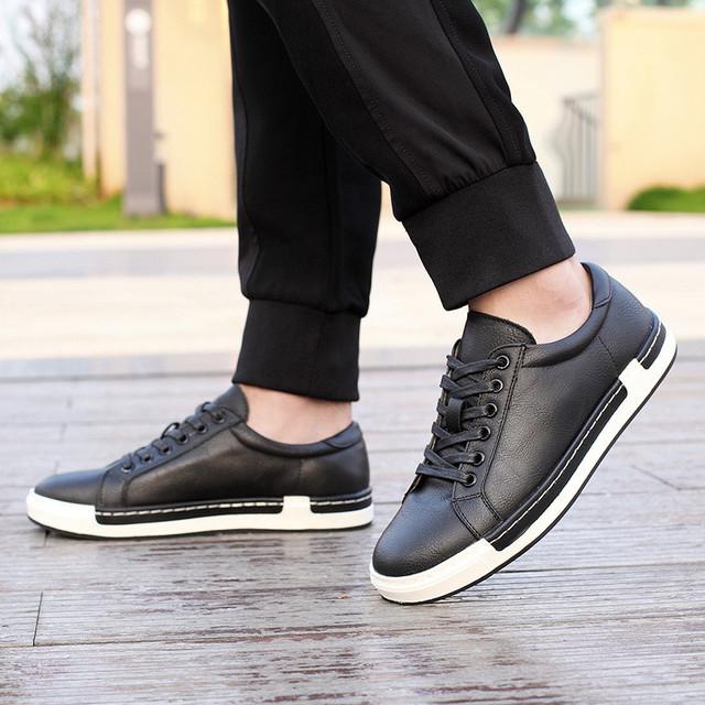 Zapatos Merkmak casuales de moda para Hombre Zapatos Vintage hechos a mano marca marrón zapatos de hombre Zapatos de ocio de cuero genuino para hombre